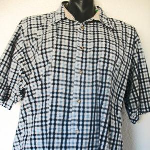 Wrangler Shirts - Wrangler Men's Western Shirt Sz 3X Blue Black Plai